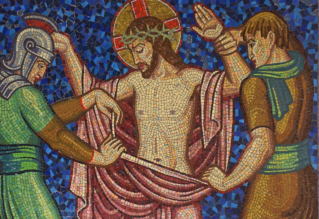 Christ is stripped of his garments (John 19:23-24)