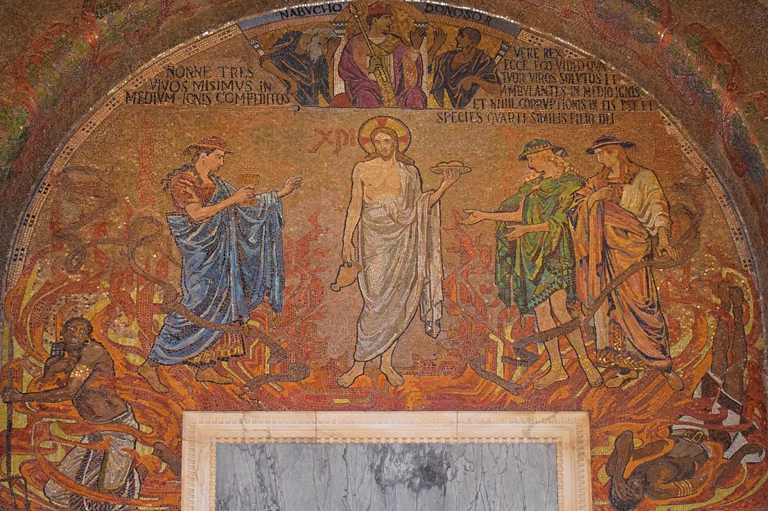 The Three Holy Youths (Daniel3:1-97)