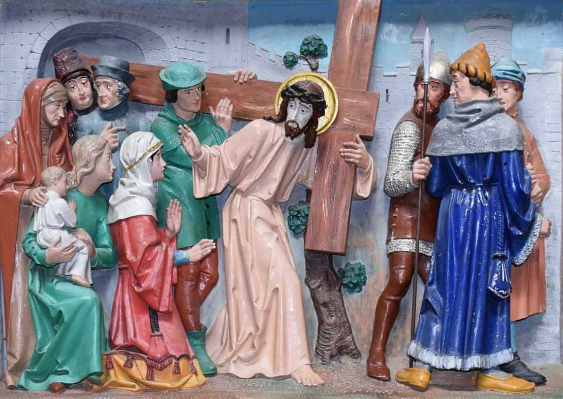 Christ comforts the women of Jerusalem (Luke23:27-31)