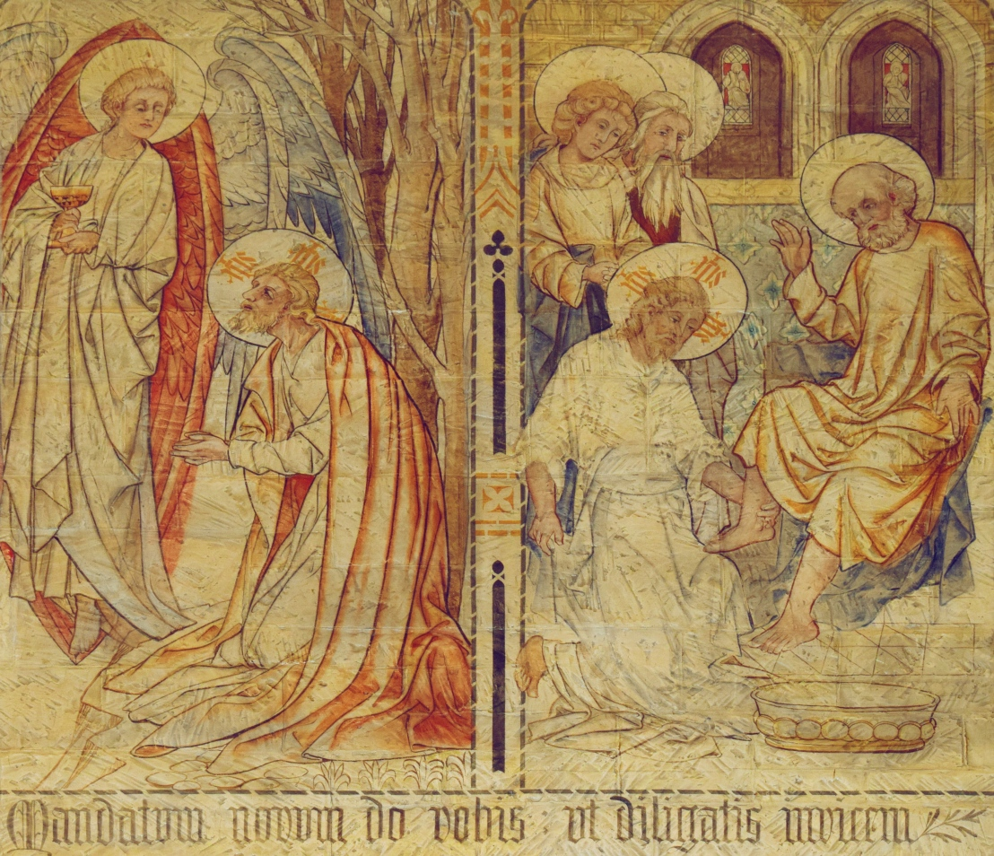 Christ washes the disciples' feet (John 13:1-38)