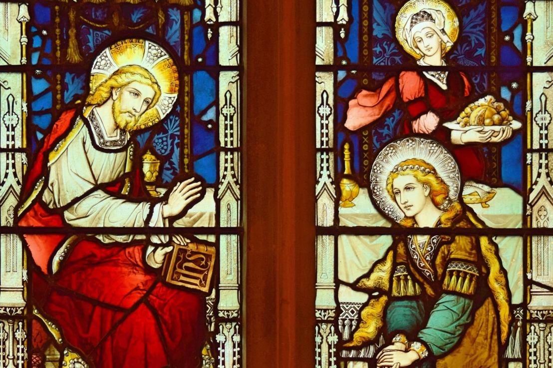 St Martha and St Mary (Luke10:38-42)