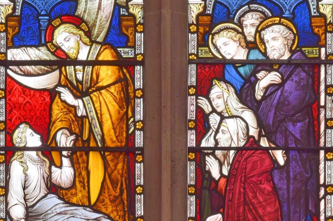 Christ raises the daughter of Jairus (Mark 5:21-24,35-43)